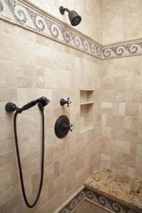 shower corner view