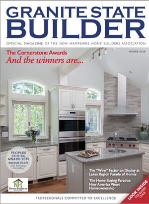 Artistic Tile Featured On Cover Of Granite State Homebuilders Magazine