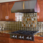 kitchen with tile backsplash